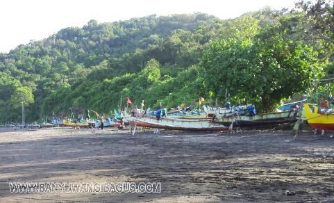 Keindahan Pantai Grajagan Banyuwangi Bagus Deretan Perahu Nelayan Kab