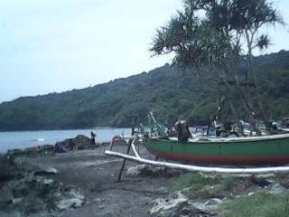 Suasana Pantai Grajagan Banyuwangi Pagi Kab