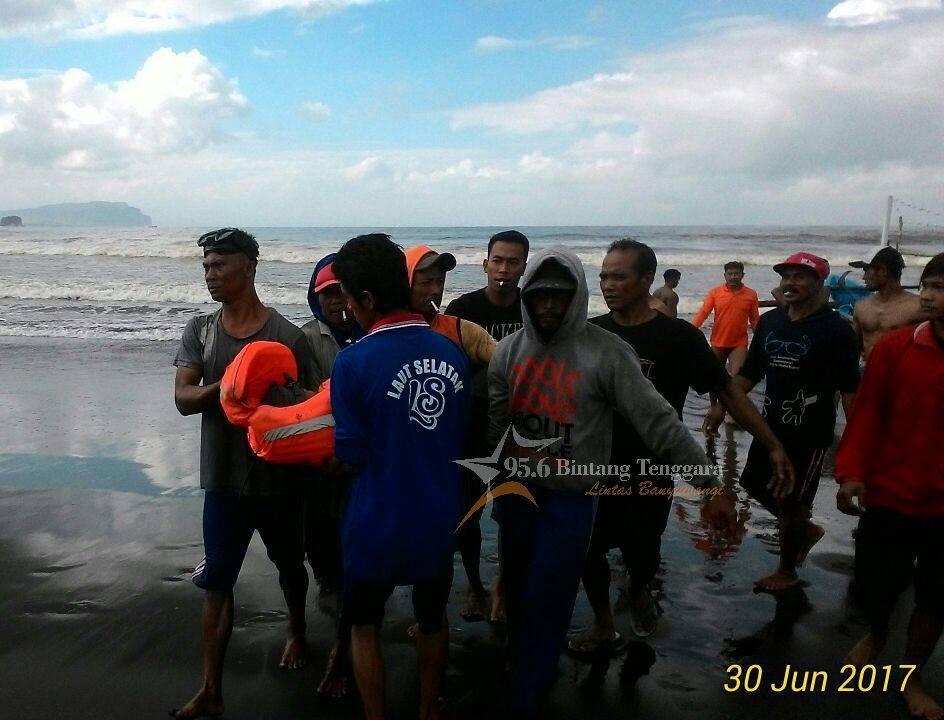 Dua Jam Tenggelam Pantai Lampon Pemancing Ditemukan Korban Berhasil Dievakuasi