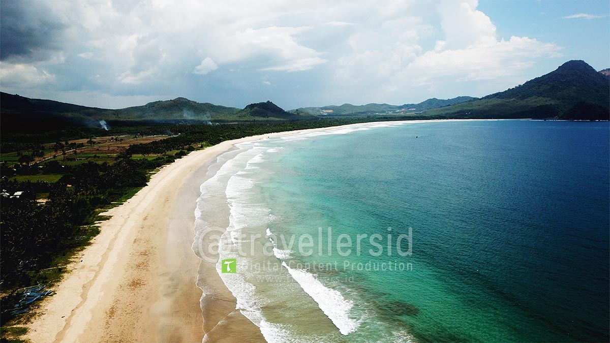Stock Photo Video Pantai Mustika Pancer Banyuwangi Travellersid Kab