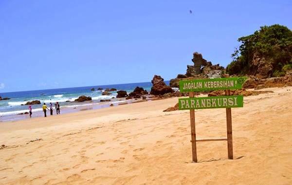 Pantai Parang Kursi Banyuwangi Sentuhan Misteri Keindahan Ireng Kab