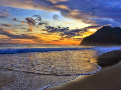 10 Foto Pantai Sukamade Meru Betiri National Park Penginapan Sunset