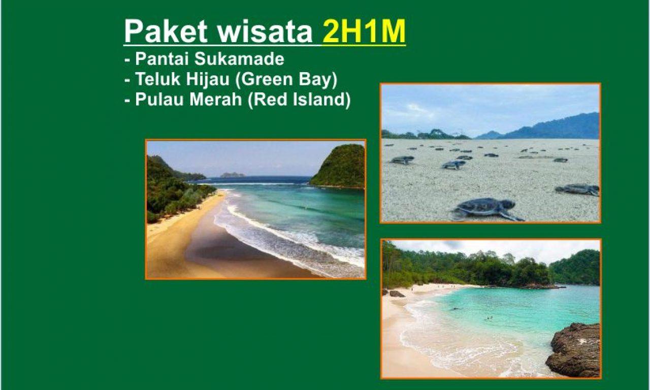 Paket Wisata Pantai Sukamade Teluk Hijau Pulau Merah 2h1m Kab