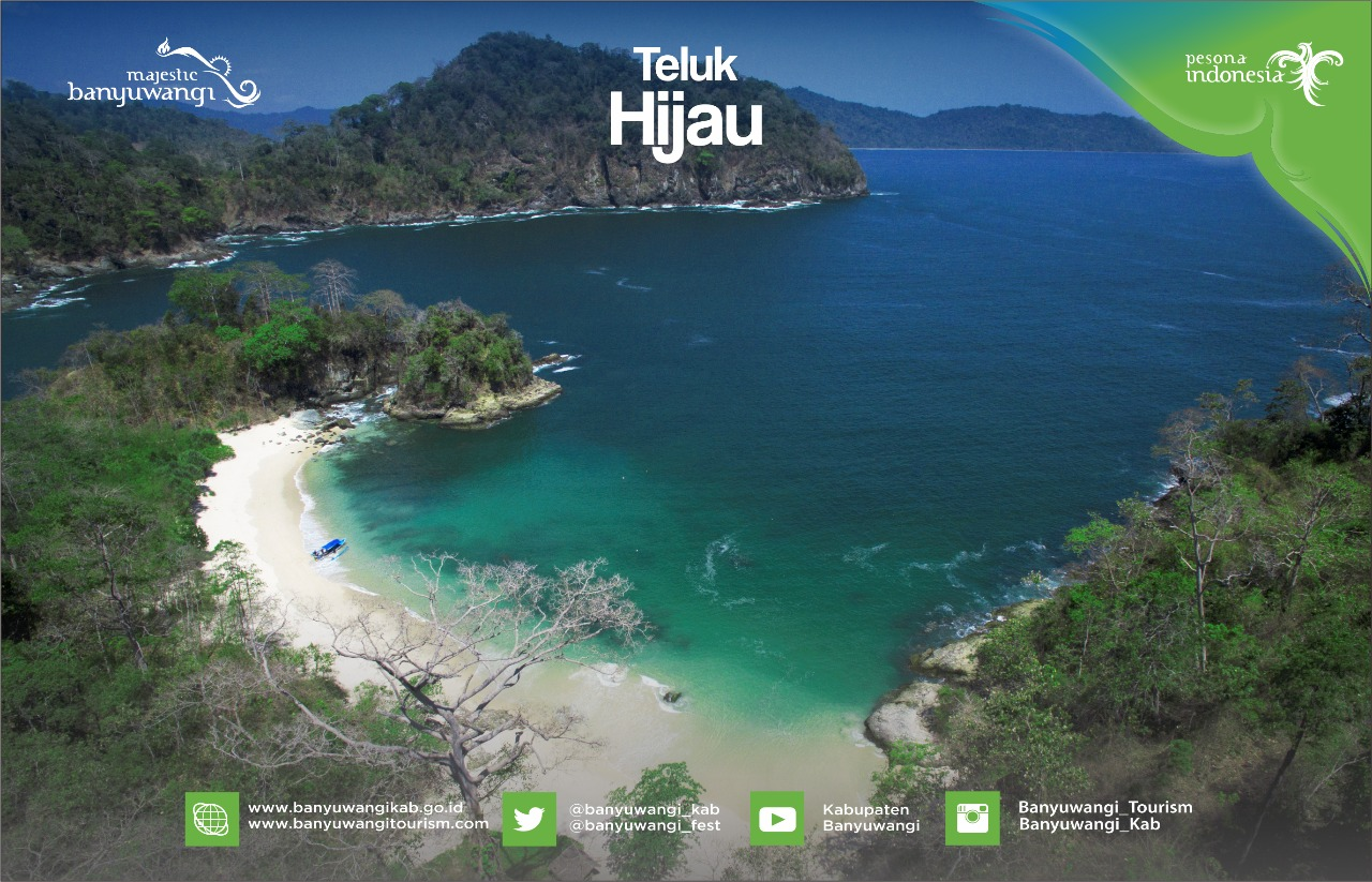 Pantai Teluk Hijau Banyuwangi Semanggi Semangat Pasir Putih Bersih Lokasinya