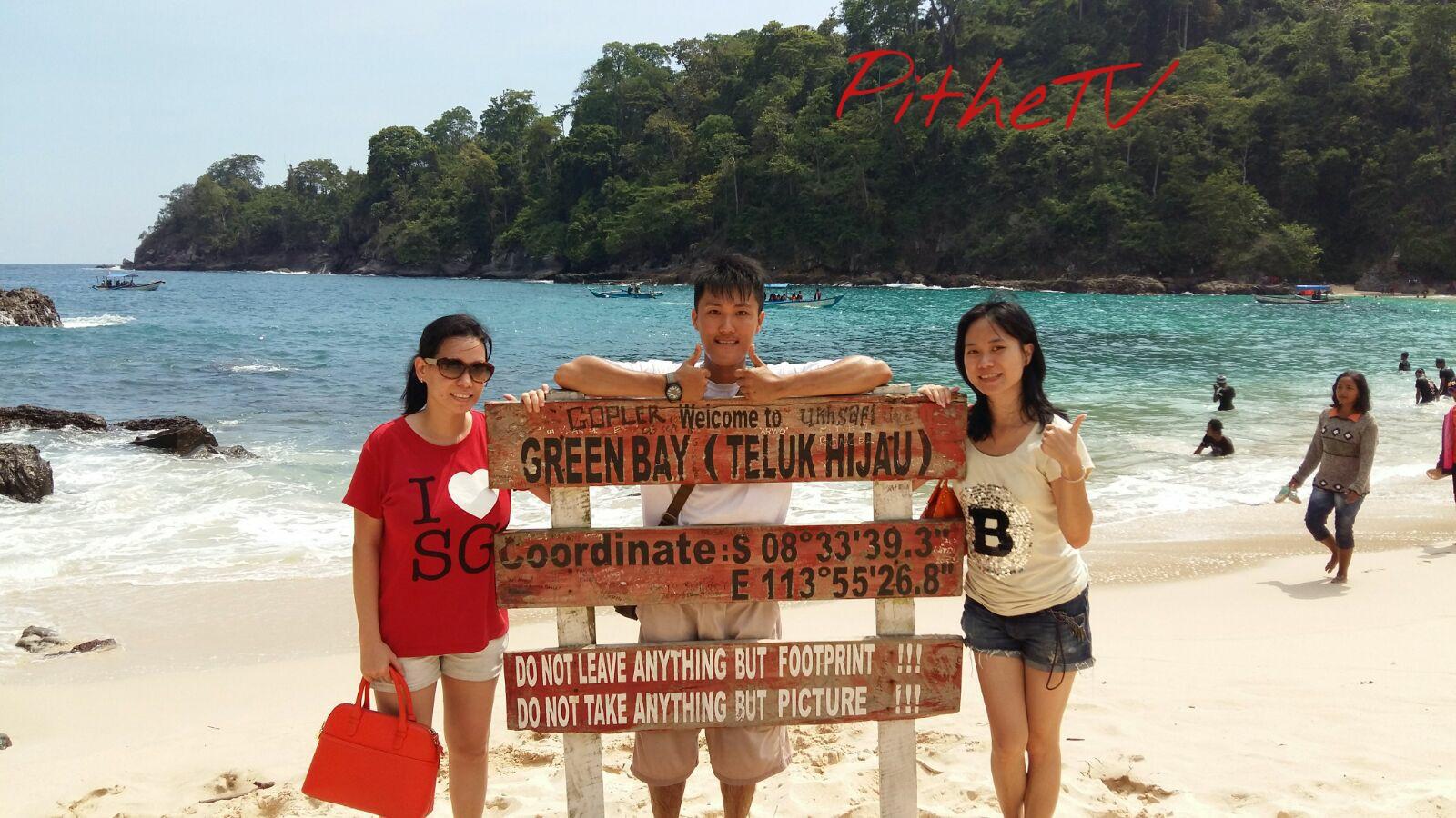 Teluk Hijau Greenbay Banyuwangi Jawa Timur Pithetv Image Pantai Kab