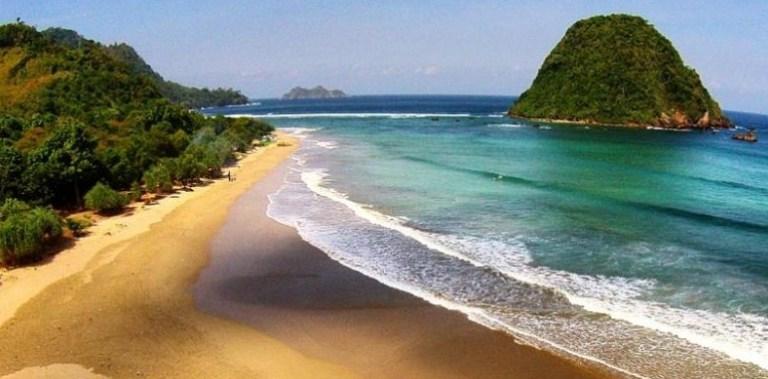 Pantai Pulau Merah Banyuwangi Kembang Wisata Pesisir Kab
