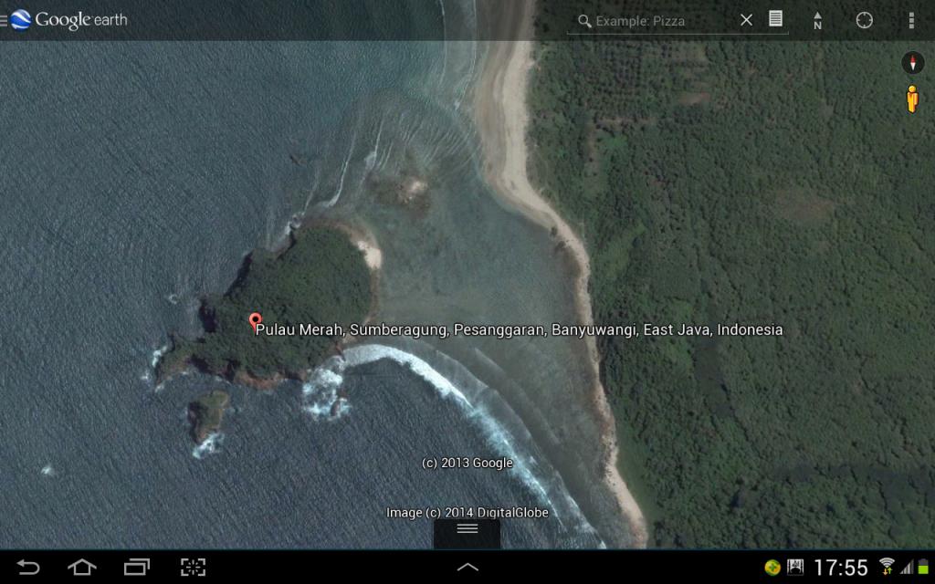 Pulau Merah Banyuwangi Wisata Pantai Bersih Oleh Iwan Nugroho Googleearth