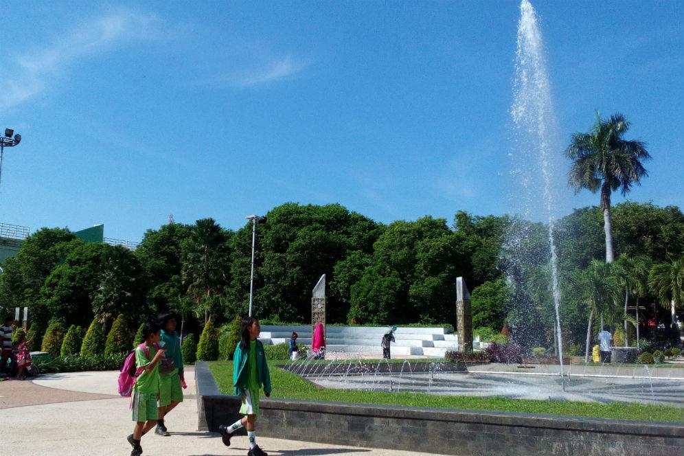 Banyuwangi Merdeka Foto Suasana Rindang Taman Sritanjung Blambangan Kab