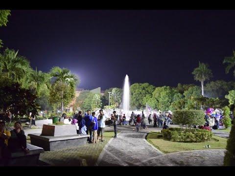 Jalan Malam Taman Sri Tanjung Banyuwangi Alun Sritanjung Blambangan Kab