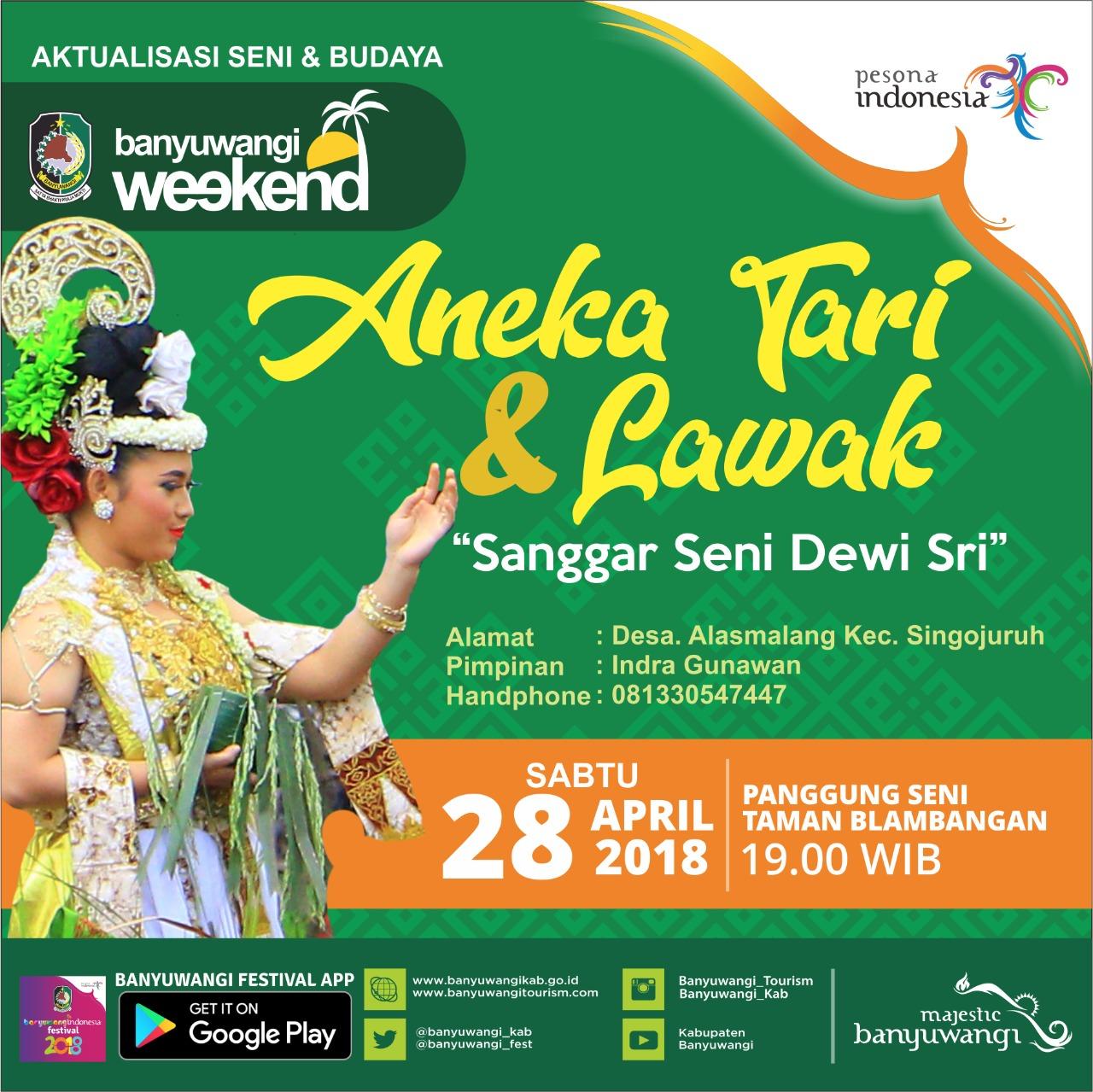 Website Kim Sanggar Tari Dewi Sri Tampil Pentas Taman Blambangan