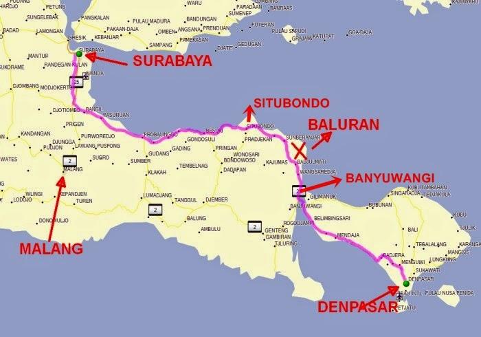 Banyuwangi Bagian 9 Taman Nasional Baluran Situbondo Peta Kab