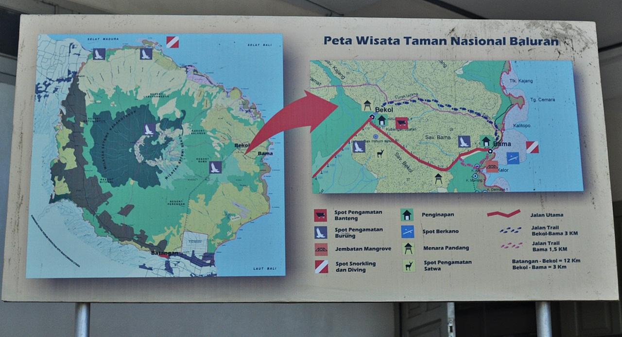 Taman Nasional Baluran Africa Van Java World Peta Tn Kab