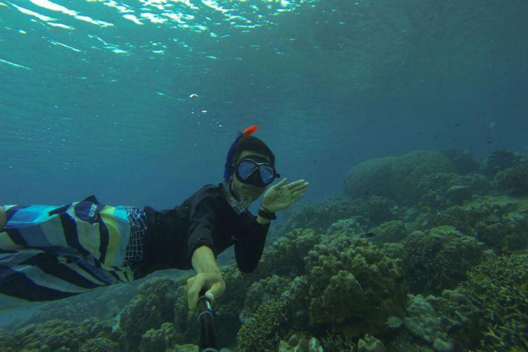 Banyuwangi Merdeka Foto Yuk Snorkeling Teluk Biru Kab