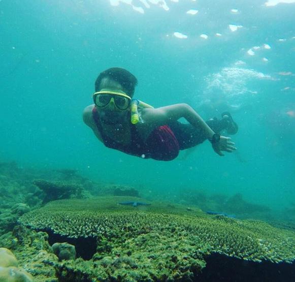 Fasilitas Lengkap Jalan Menuju Pantai Teluk Biru Banyuwangi Snorkeling Kab
