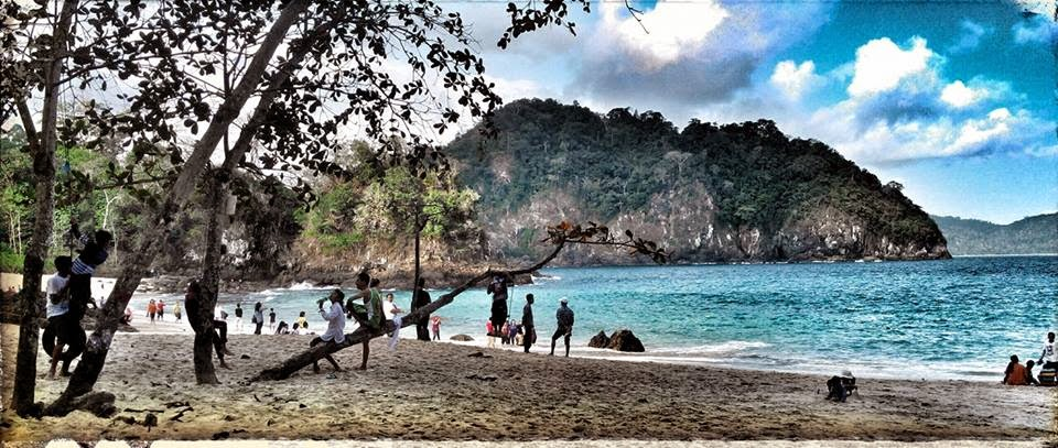 Pantai Teluk Hijau Surga Tersembunyi Banyuwangi Green Bay Biru Kab