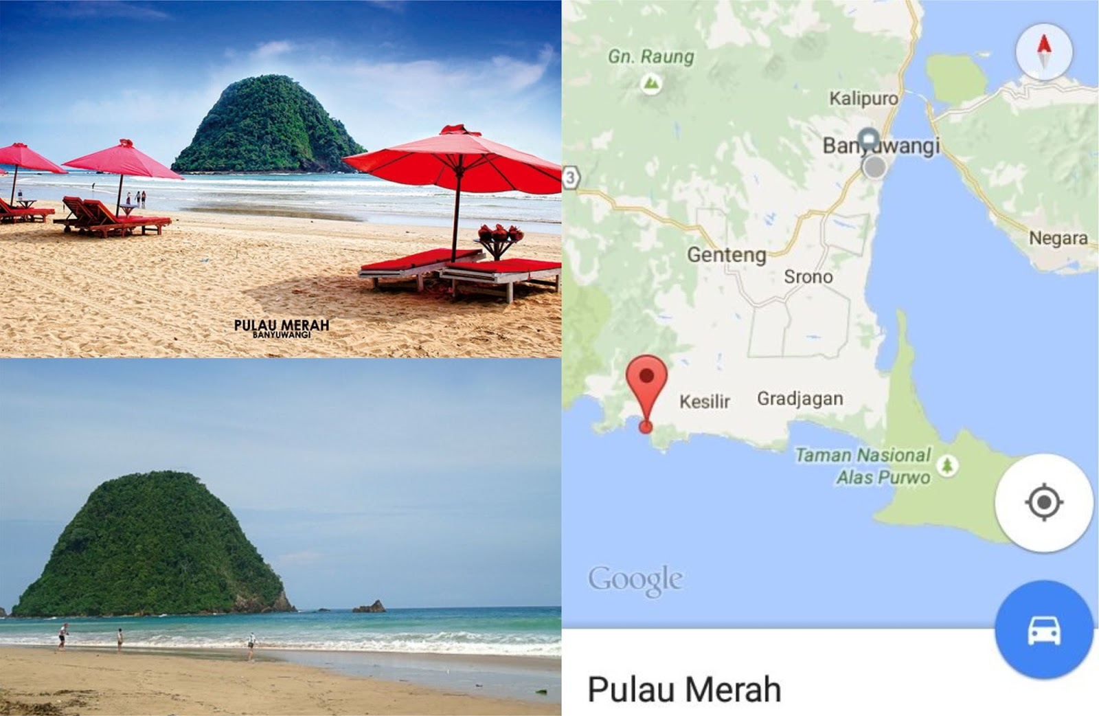 Coretan Kita Bersama Nama Pantai Kabupaten Banyuwangi Pulau Merah Red