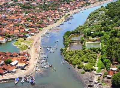 Pantai Boom Banyuwangi Bagus Dilihat Atas Tugu Inkai Kab