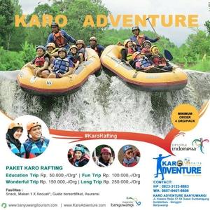 Jual Rafting Long Trip Karo Adventure Tokopedia Wisata Kab Banyuwangi