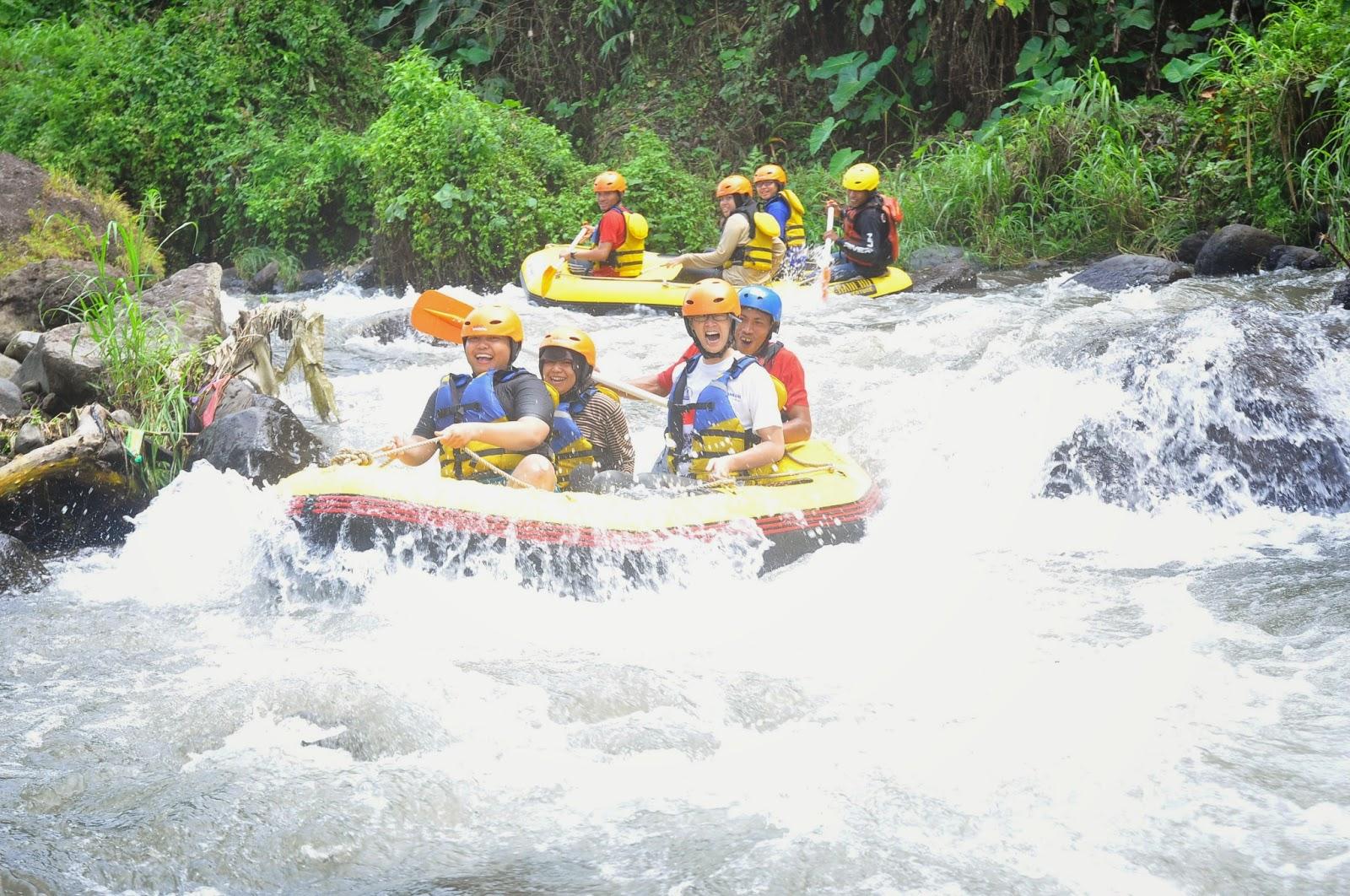 Karo Rafting Songgon Alfarizky Tour Travel Banyuwangi Adventure Wisata Kab