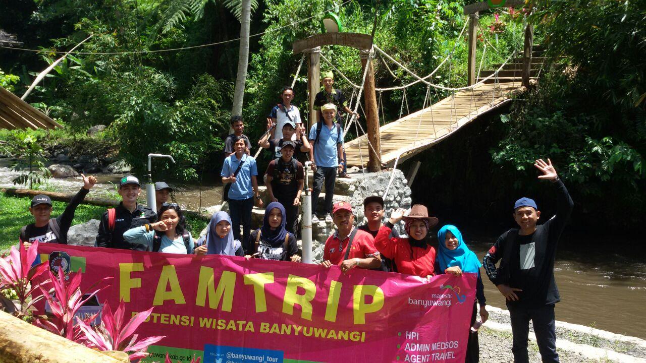 Serunya Famtrip Disbudpar Banyuwangi Kawasan Wisata Songgon Peserta Rafting Karo