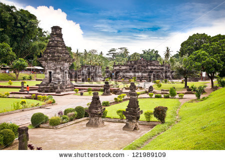 Candi Penataran Temple Blitar East Java Stock Photo Royalty Free