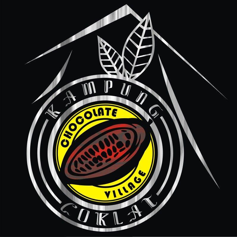 Logo Kampung Coklat Wisata Kabupaten Blitar Ilustration Design Label Cokelat