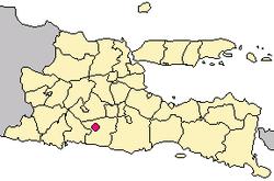 Kota Blitar Wikipedia Bahasa Indonesia Ensiklopedia Bebas Peta Lokasi Monumen