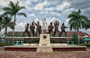 Monumen Peta Kota Blitar Simbol Kepahlawanan Rakyat Dibangun Memperingati Kejadian