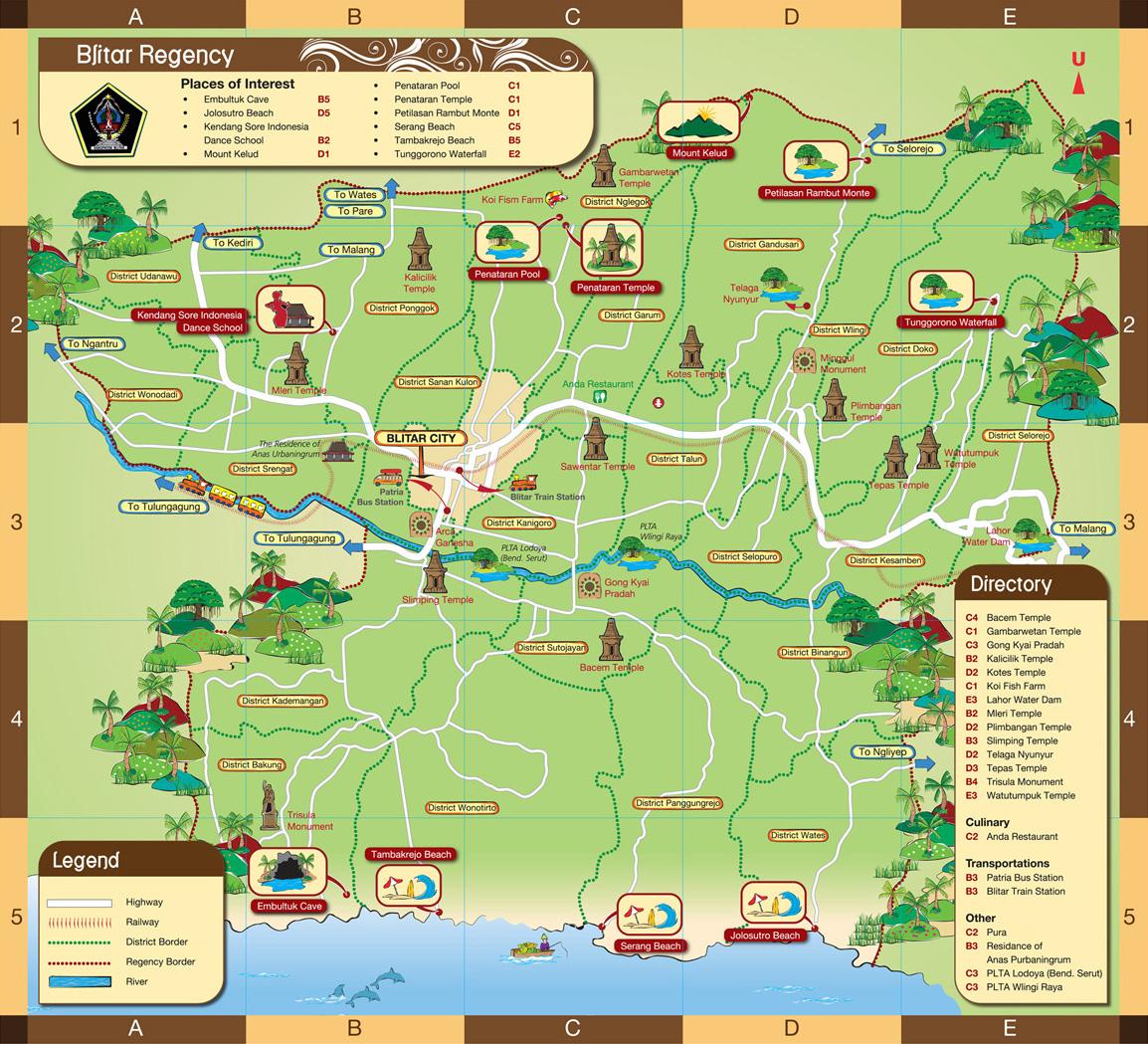 Peta Wisata Kabupaten Blitar Monumen Kab