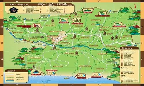 Tempat Wisata Blitar Menarik Dikunjungi 2018 Peta Taman Kebon Rojo