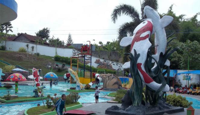 Wisata Sumber Udel Water Park Rekreasi Sambil Bermain Air Tempat