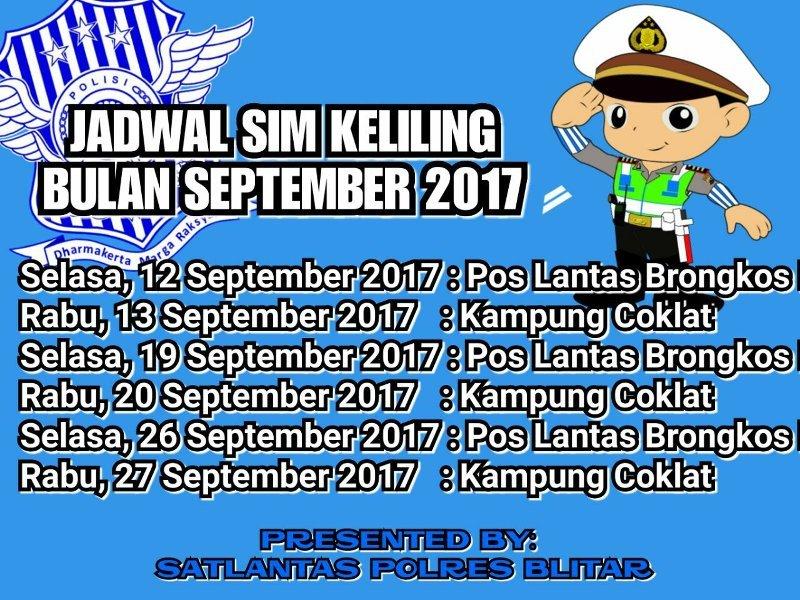 Jadwal Sim Keliling September 2017 Blitar Info Zegra Kab