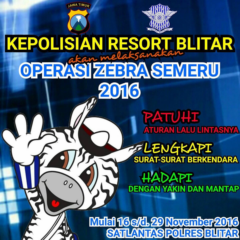 Operasi Zebra Semeru 2016 Blitar Info Zegra Kab
