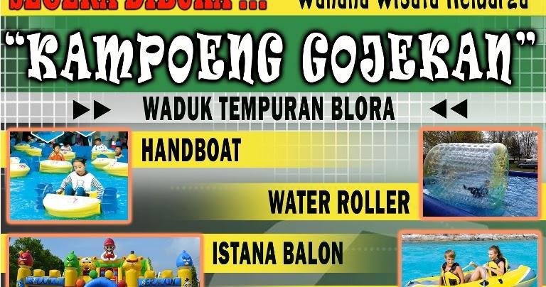 Dibuka Kampoeng Gojekan Wahana Wisata Adrenalin Blora Infoblora Kampung Kab
