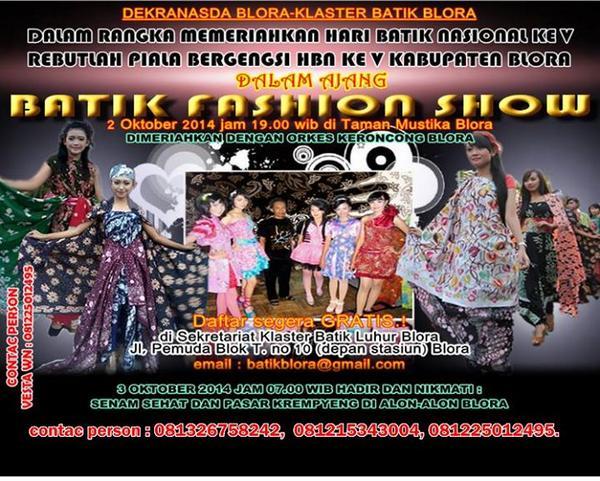 Ayo Dolan Blora Twitter Event Fashion Show Gebyar Batik Dlm