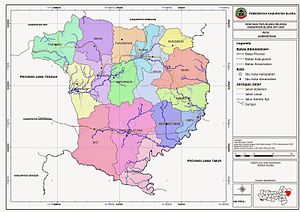 Kabupaten Blora Wikipedia Bahasa Indonesia Ensiklopedia Bebas Peta Administrasi Taman