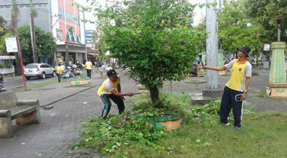 Jum Bersih Sasar Taman Seribu Lampu Isknews Blora Kab