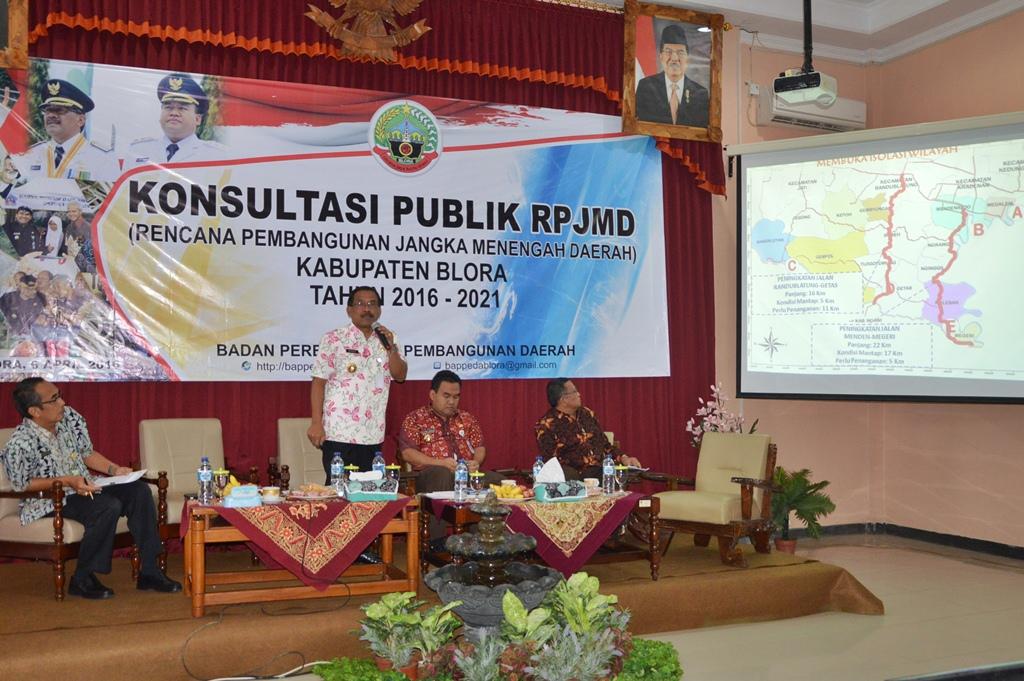 Rencana Pembangunan Kab Blora 5 Kedepan Oleh Djoko Arief Bupati