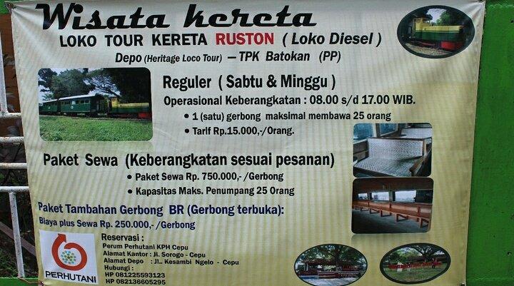Informasi Blora Twitter Wisata Heritage Loko Tour Kph Cepu Kab