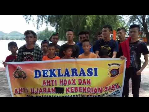 Deklarasi Anti Hoax Pengunjung Wisata Pantai Bolihutuo Kabupaten Boalemo Kab