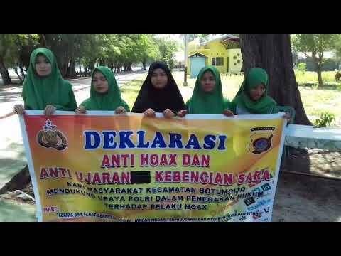 Deklarasi Anti Hoax Wisatawan Lokal Wisata Pantai Bolihutuo Kabupaten Boalemo
