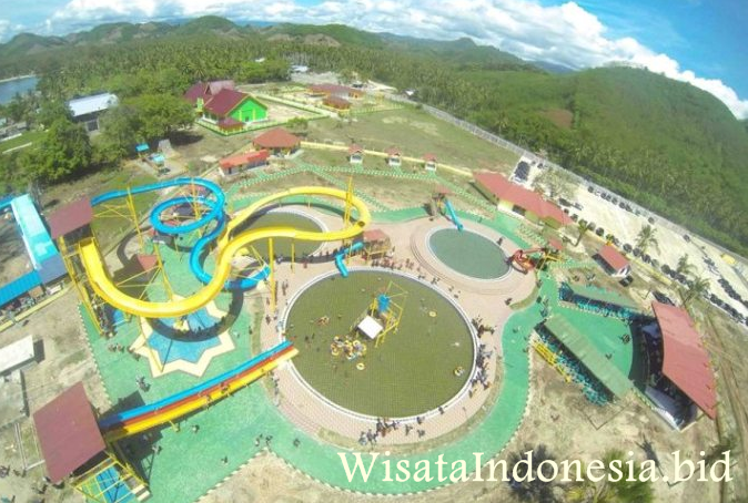 Objek Wisata Kabupaten Boalemo Gorontalo Indonesia Waterpark Bolihutuo Memang Adanya