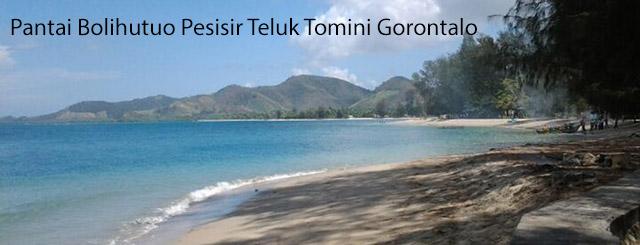 Pantai Bolihutuo Pesisir Teluk Tomini Gorontalo Indonesia Kab Boalemo