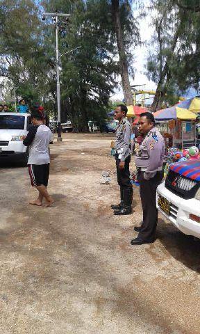Polres Boalemo Terjunkan 95 Personel Lakukan Pengamanan Obyek Wisata Pantai