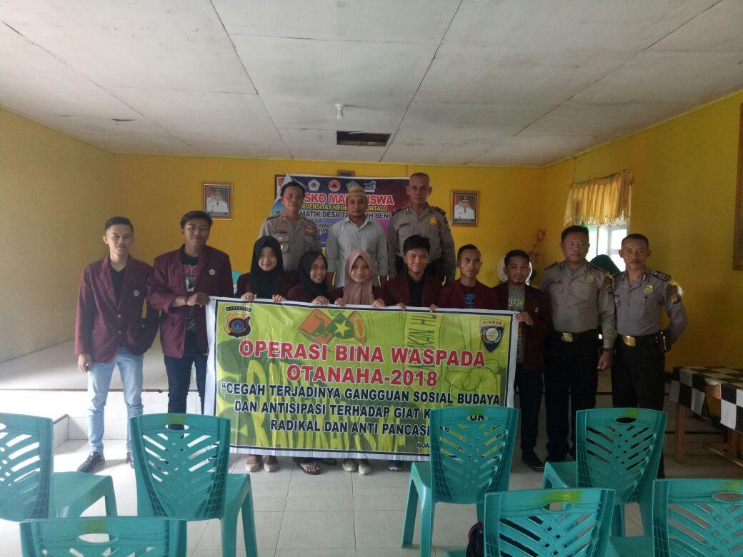 Cegah Terjadinya Gangguan Sosial Budaya Wilayah Kabupaten Boalemo Polres Laksanakan