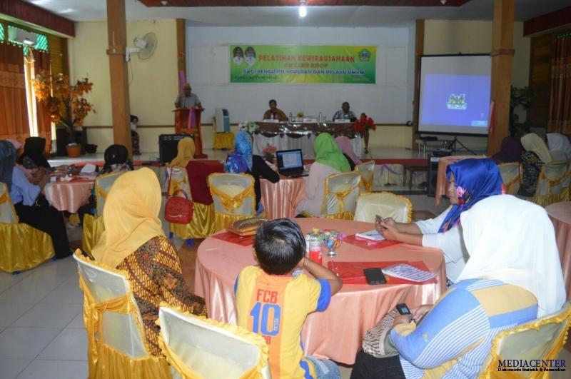 Dinas Kumperindag Boalemo Gelar Pelatihan Wirausaha Online Pantai Mananggu Kab