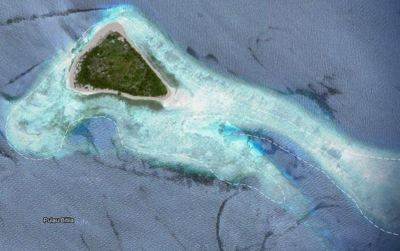 Objek Wisata Pulau Bitila Campion Berada Desa Kramat Kecamatan Mananggu