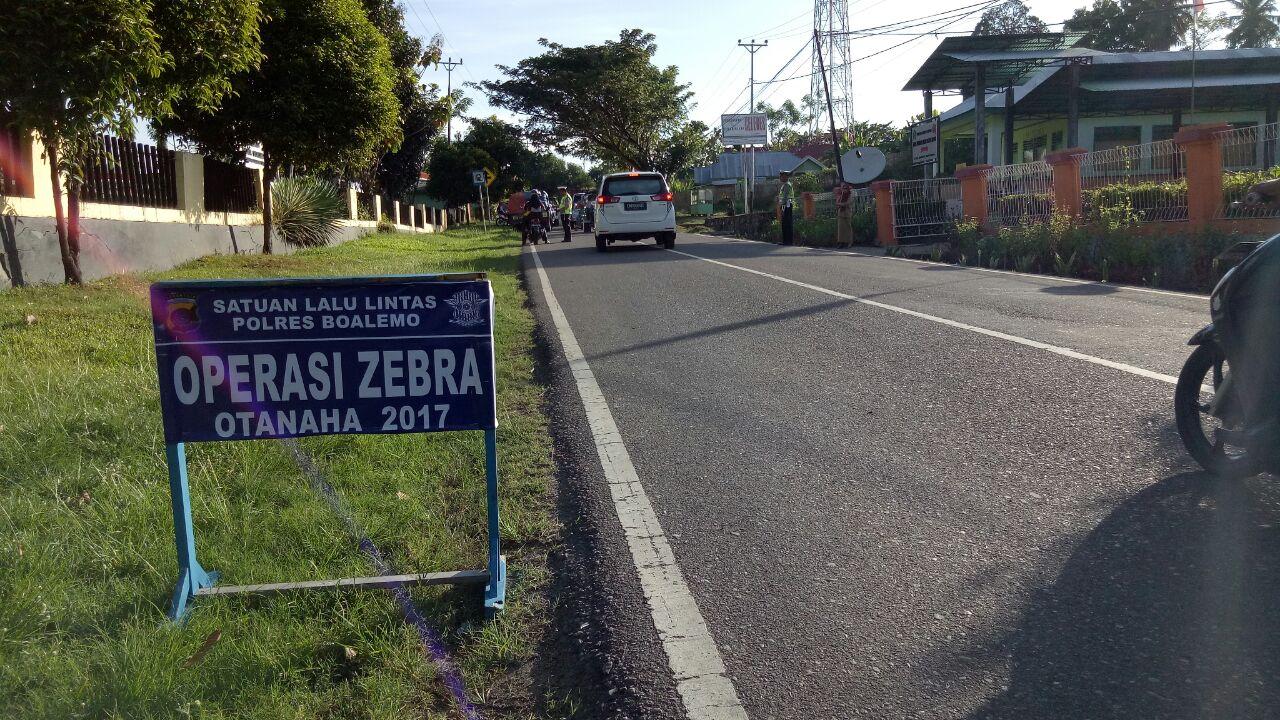 Polres Boalemo Gencar Laksanakan Operasi Zebra 2017 Wilayah Kabupaten Pantai