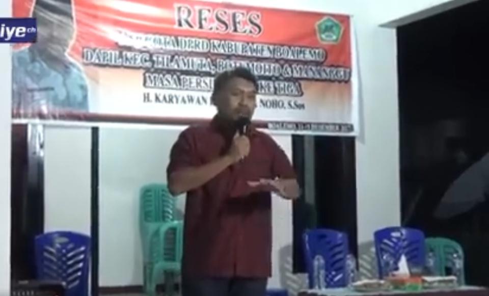 Tatiyech Wakil Ketua Dprd Eka Putra Noho Reses Kaaruyan Kabupaten