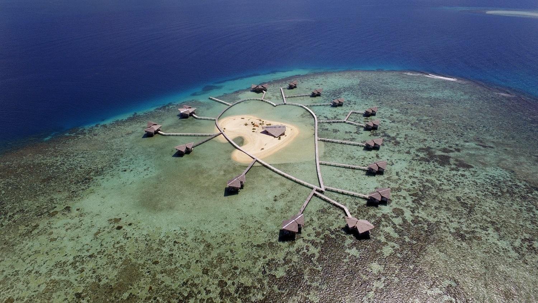 Wisata Romantis Pulo Cinta Foto Aerial Kawasan Desa Suku Bajo